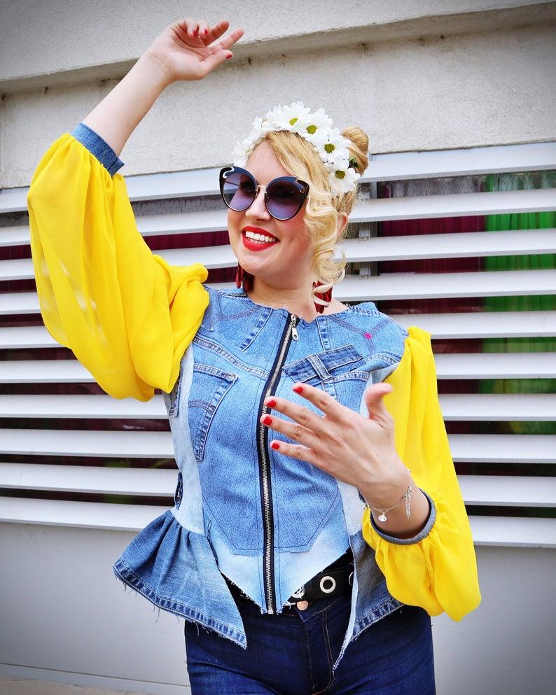 jean blouse women