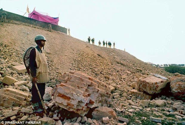 Ayodhya  VHP's first lot of stones for Ram temple arrives, police on alert