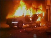 बिहार : मंदिर तोड़ने गई पुलिस पर पथराव,आगजनी