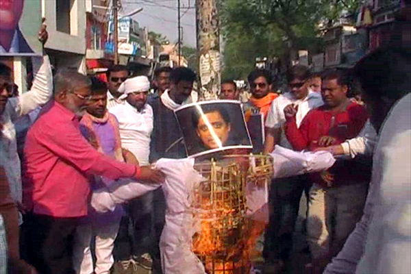 BJP Protests in khandwa