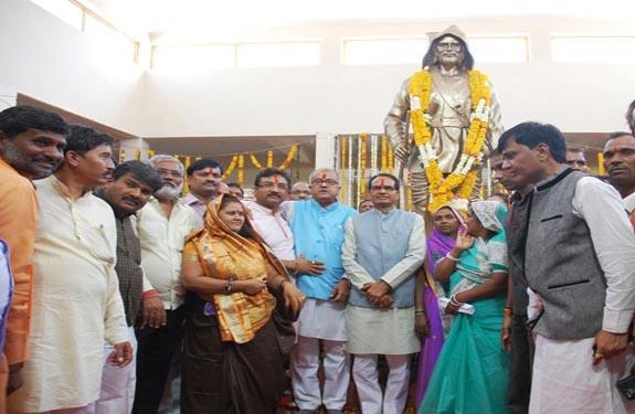 khandwa shivraj singh chouhan at Tantya Mama memorial