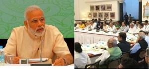 मुख्यमंत्रियों के साथ बैठक में पीएम की बैठक,कहा साथ मिल कर चले