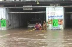 पुलिया में फंसा भाजपा नेता का वाहन, रेस्क्यू कर निकाला