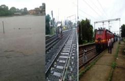माचक नदी उफान पर, 6 ट्रेन रोकी, 3 घंटे बाद शुरू