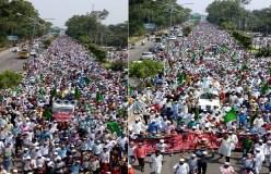 लुधियाना में एक लाख से अधिक मुसलमानों का रोष प्रदर्शन