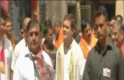 गुजरात दौरे पर राहुल गांधी, किए द्वारकाधीश के दर्शन