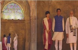 PM बनने के बाद पहली बार मस्जिद पहुंचे मोदी, शिंजो आबे के बने गाइड