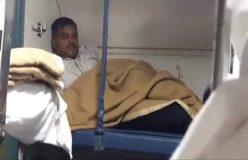 चलती ट्रेन में लड़की को देख हस्तमैथुन कर रहा था शख्स