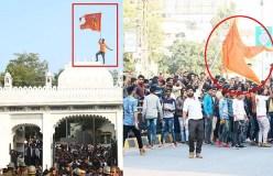 न्यायालय पर भगवा, बीजेपी सरकार मौन