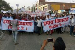 उन्नाव गैंगरेप : आरोपी बीजेपी विधायक के समर्थन में रैली
