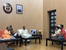 विवेक तिवारी की पत्नी कल्पना से मिले मुख्यमंत्री योगी, संभव मदद का भरोसा