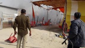 कुंभ: बिहार के राज्यपाल लालजी टंडन के टेंट में लगी भीषण आग
