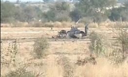 लड़ाकू विमान मिग 21 क्रैश, नाल एयरबेस के पास हुआ हादसा