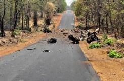 गढ़चिरौली : नक्सलियों ने IED ब्लास्ट कर पुलिस की गाड़ी उड़ाई, 15 जवान शहीद