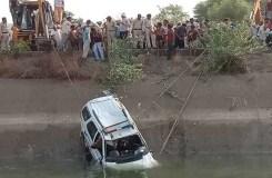खंडवा : नहर में गिरी डायल 100, दो शव बरामद