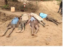 अवैध रेत खनन के दौरान खदान धंसी,  5 मजदूरों की मौत