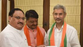विदेश मंत्री एस. जयशंकर बीजेपी में हुए शामिल