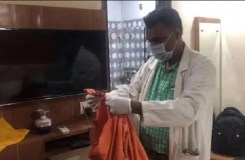 कमलेश तिवारी हत्याकांड : होटल के कमरे से बरामद हुए आरोपियों के खून से सने भगवा कपड़े