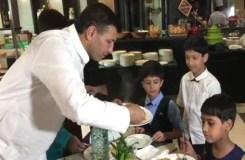 मंत्री जीतू पटवारी ने गरीब बच्चों को 5 स्टार होटल में दी पार्टी