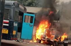 दिल्ली के तीस हजारी कोर्ट परिसर में फायरिंग, आगजनी
