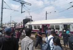तेलंगाना : काचीगुडा रेलवे स्टेशन पर दो ट्रेनें आपस में टकरा गई