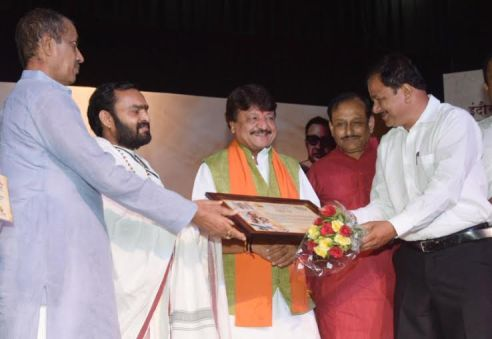Jai Nagdha honored by Indore Press Club