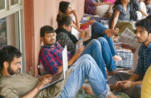 JNU, Kanhaiya kumar, umar khalid, hunger strike