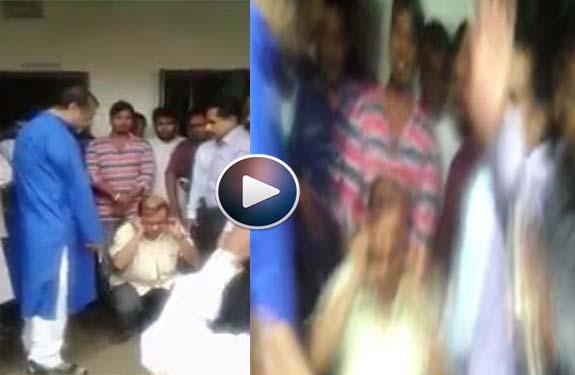 Hindu teacher beaten up
