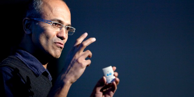 Satya Nadella, senior vice president of research and development for the online services division for Microsoft Corp., speaks during a Microsoft Search Summit event in San Francisco, California, U.S., on Wednesday, Dec. 15, 2010. Microsoft Corp. updated its Bing search engine today, aiming to build on U.S. market-share gains last month as it chases Google Inc. Photographer: David Paul Morris/Bloomberg via Getty Images