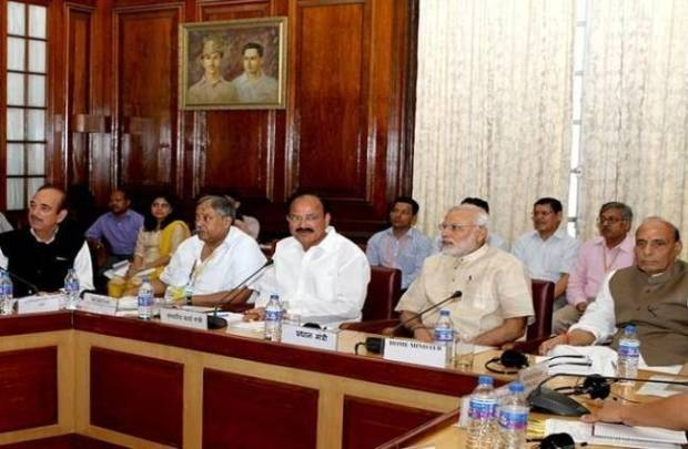 all party meeting,  monsoon session,  parliament, kashmir, arunachal,  gst bill