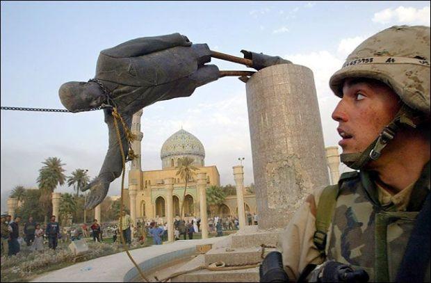 saddam hussein ruins monuments in baghdad iraq