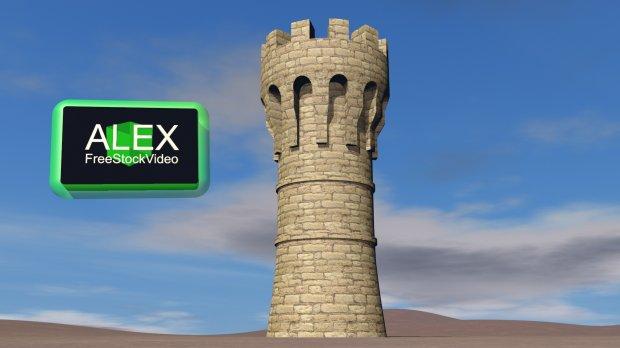 Tower Castle 3d Model Obj C4d