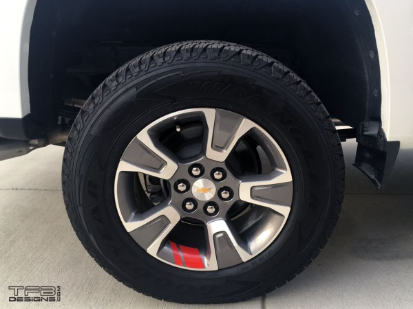 chevy colorado wheel stripe decals redline edition