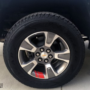 Wheel Stripes Redline Edition Style – 2015-2020 Chevy Colorado