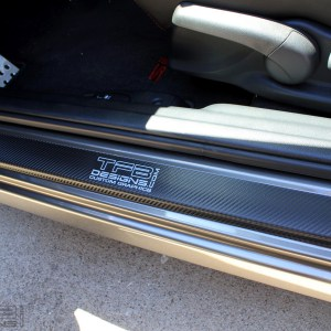 Carbon Fiber Door Sill Overlays 2006-2011 Honda Civic Sedan