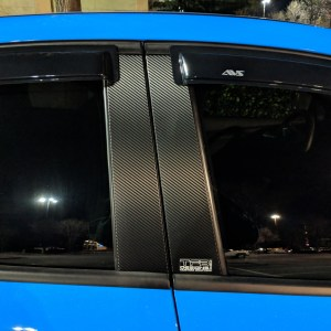 3M Carbon Fiber Door Pillar Decals 2012-18 Ford Focus ST RS