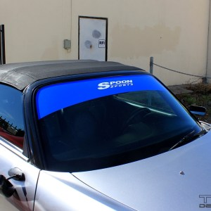 Windshield Banner – fits 2000-2009 Honda S2000 AP1 AP2