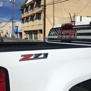 Z71 Off Road Bed Side Decals 2015+ Chevrolet Colorado Silverado