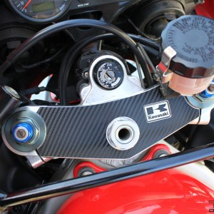 Carbon Fiber Triple Clamp Decal 2005-2008 Kawasaki ZZR600 ZZR 600