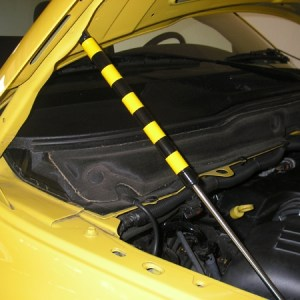 Hood Lift Stripes – Dodge Rumble Bee Yellow Bee Stripe Decal Kit