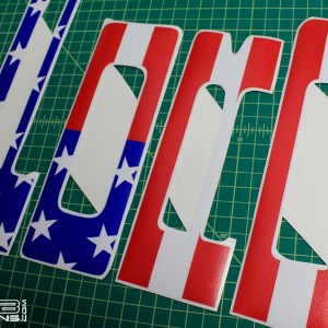 American Flag Front Grill Decals- fits Ford Raptor SVT 2010-2014