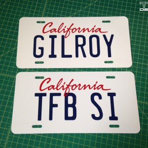 Custom California License Plate Replica – Choice of Letters / Numbers