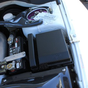 Carbon Fiber Fuse Box Decals- Mitsubishi Evolution EVO 8 / EVO 9