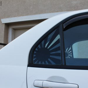 Rising Sun Flag Rear Window Decals – Mitsubishi Evo 8 / Evo 9