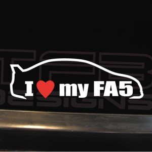 I Love my Car Decal EF EK EG EM1 DC2 DC5 AP1 FG2 FA5 FD2