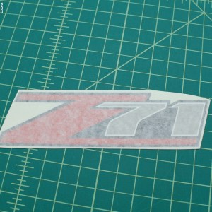 Z71 Decal 6″ Long – GMC Canyon Chevy Colorado Silverado Tahoe
