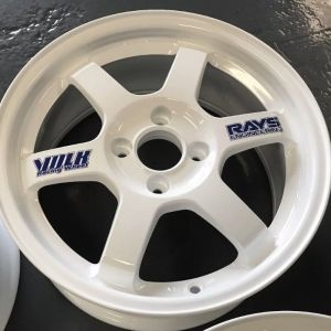 Volk Racing and Rays Engineering Decals for TE37 Wheels
