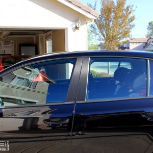Carbon Fiber Door Pillar Decals 2010-2014 Volkswagen GTI MK6