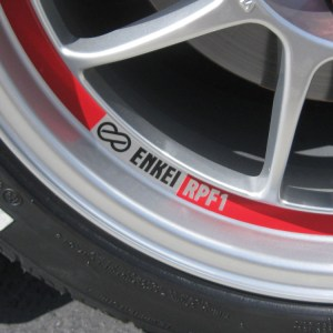 Logo Decals for Enkei Wheels- Set of 5- All Enkei Wheels RPF1
