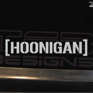 Hoonigan Decal – Color and Size of Your Choice – Drift Hoon